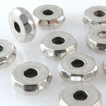 15 Rondelle Metallperlen 8x3mm Spacer Perlen altsilber Metallspacer -1372