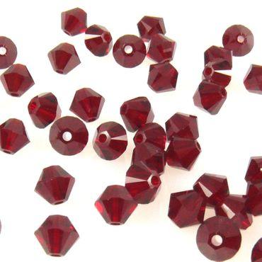 10x SWAROVSKI ELEMENTS 5328 Bicone 4mm siam Perlen rot zum Basteln -1493