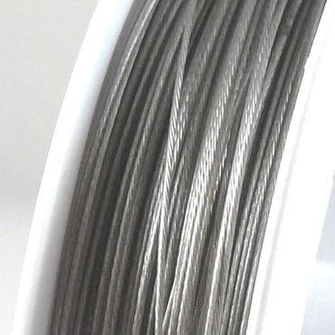 70m Schmuckdraht Basteldraht silber nylonummantelt 0,45mm Draht Basteln – Bild 1