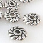 20 Rondelle Metallperlen 6x2mm Spacer Perlen altsilber Metallspacer Basteln -719