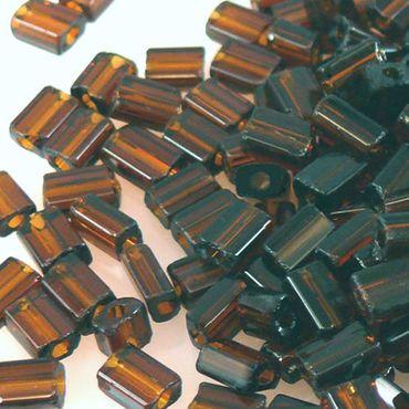 210 Rocailles-Stifte dunkelbraun Glasperlen braun 5mm Perlen Rocaillesperlen