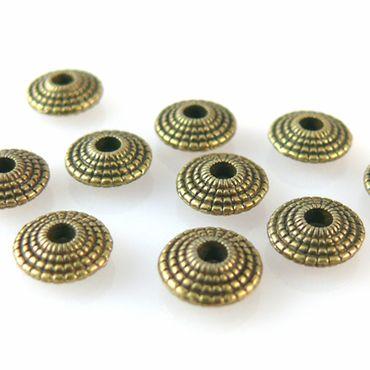 10 Metallperlen Metall Diskus 8mm bronze Spacer Perlen zum Schmuck basteln -1275 – Bild 2