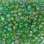 250 Rocailles Perlen Glasperlen 4mm AB azurblau Glas Beads Indianerperlen 737