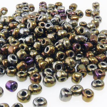 290 Rocailles Glasperlen braun bunt Perlen 4mm Rocaillesperlen zum Basteln -586 – Bild 2