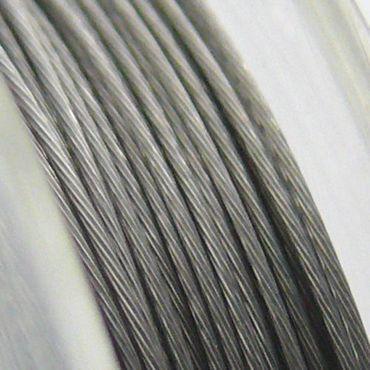 10m Schmuckdraht Basteldraht silber 0,38mm -822 – Bild 1