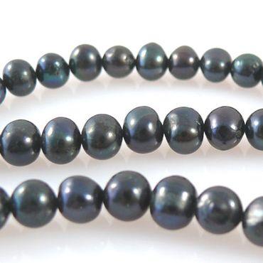 1 Strang Süßwasserperlen Zuchtperlen Perlen 7-8mm grauviolett -1161