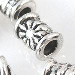 15 Metallperlen Perlen 6mm Spacer Walzen Großlochperlen altsilber -1286
