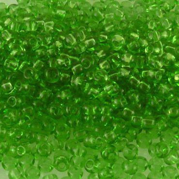 860x Glas Perlen Rocailles grün 1,8mm Glasperlen zum Basteln  -1429