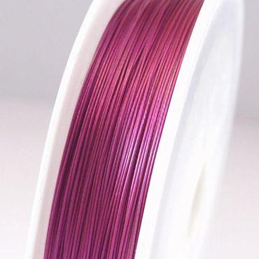 70m Schmuckdraht Basteldraht Ø 0,38mm pink Draht zum Ketten Basteln -359 – Bild 1