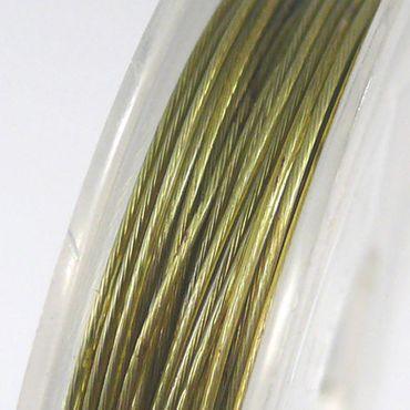 10m Schmuckdraht Basteldraht olivgrün nylonumantelter Draht 0,38mm Perlendraht – Bild 1