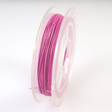 10m Schmuckdraht Basteldraht pink Draht 0,38mm Schmuck Basteln -1228 – Bild 2