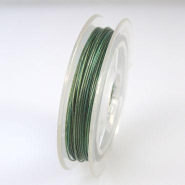 10m Schmuckdraht Basteldraht grün 0,38mm Draht Schmuck Basteln -1232 – Bild 2