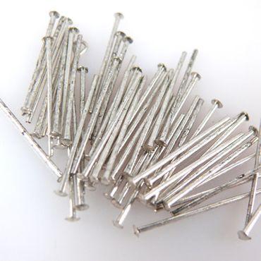 50 Kopfstifte Kettelstifte silber antikisiert 20mm Verbinder zum Basteln -1097
