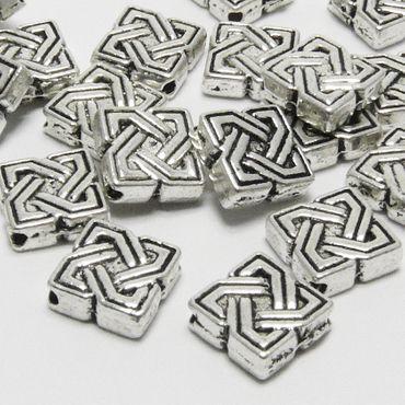 20x Metallperlen 7mm Metall Quadrate Spacer Perlen altsilberfarben -303 – Bild 1