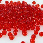 300 Rocailles Perlen Glasperlen 3mm rot Glas Beads Bastelperlen -624