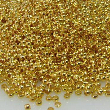 5000x Quetschperlen 2mm goldfarben Großpackung Perlen zum Quetschen -1634 – Bild 1