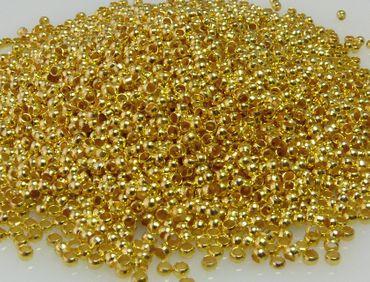 5000x Quetschperlen 2mm goldfarben Großpackung Perlen zum Quetschen -1634 – Bild 2