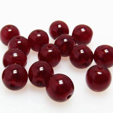 15 Glasperlen Kugeln rot Ø 8mm Bastelperlen runde Perlen zum Basteln -1257