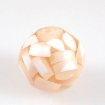 Kunststoffperle Kugel apricot weiß 2cm Acrylperlen Perlen zum Basteln-1210