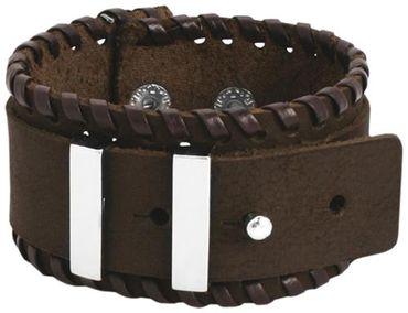 NEU braunes Lederarmband braun Leder Armband 19-21cm Herrenarmbänder -055 – Bild 1