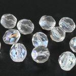 12x Glasschliffperlen 8mm Facettenperlen kristall AB Kugel Beads zum Basteln-866