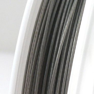 10m Schmuckdraht Basteldraht Ø 0,8mm altsilber nylonummantelt Draht – Bild 1
