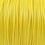 3m Wachsband Wachsschnur 1mm sonnengelb Schnur aus Baumwolle zum Basteln