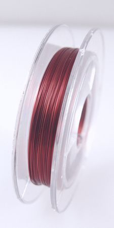 10m Spule Kupferdraht bordeaux Schmuckdraht 0,30mm Bindedraht Draht  – Bild 2