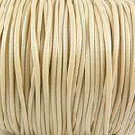 2m Wachsband Wachsschnur 2mm beige Schnur aus Baumwolle Bastelfaden -336