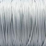 3m Wachsband Wachsschnur 1mm grau Schnur aus Baumwolle Schmuckband Bastelschnur