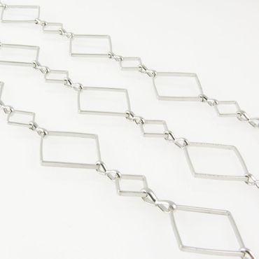 100cm Metallkette Gliederkette 12mmx6mm Metall Kette silbern 1m Kettenglieder