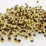 480x Quetschperlen 2x2,8mm altgoldfarben Großpackung Metallperlen -1645
