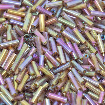 550 Rocailles-Stifte Mix 7mm Röhrchen bunt Lüster Perlen Rocaillesstifte neu