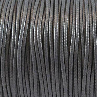 3m Wachsband Wachsschnur 1mm €0,40/m grau Bastelschnur Perlenschnur Schmuckband