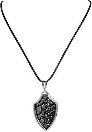 Neu modische Herrenkette mit Anhänger aus Edelstahl Kette 63cm silber schwarz – Bild 2
