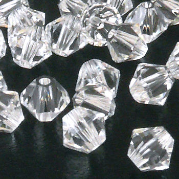 50x SWAROVSKI ELEMENTS 5328 Bicone 4mm crystal Perlen Doppelkegel transparent – Bild 1