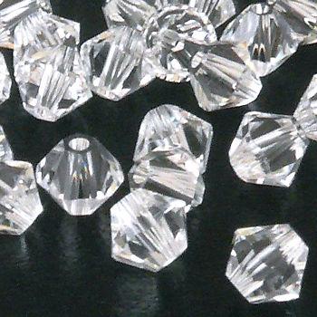 50x SWAROVSKI ELEMENTS 5328 Bicone 4mm crystal Perlen Doppelkegel transparent – Bild 1