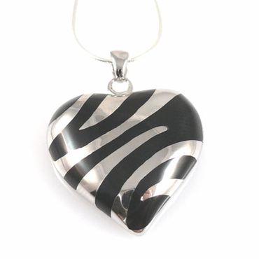 Herzanhänger Silber 925 rhodiniert Silberanhänger 3,4cm Herz Anhänger für Ketten
