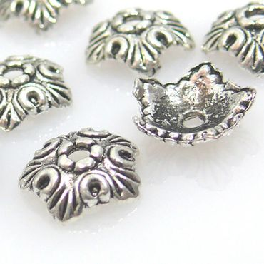 10 Perlenkappen Endkappen Perlkappen silber Kappen Metallkappen -374 – Bild 1