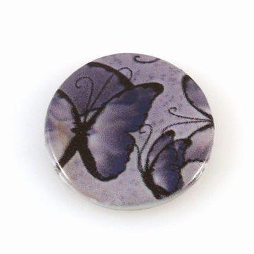 edle Perlmuttscheibe Muschelperle lila Perle 2cm Münzperlen zum Basteln -1311