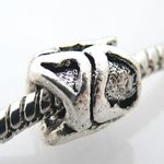 Metall Bead Herz 9x8mm Metallperle Metallbead zum Sammeln Sammelperle