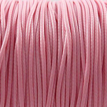 3m Wachsband Wachsschnur 1mm rosa €0,40/m Schnur aus Baumwolle pink -833