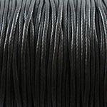 3m Wachsband Wachsschnur 1mm schwarz €0,40/m Schnur Band aus Baumwolle -834