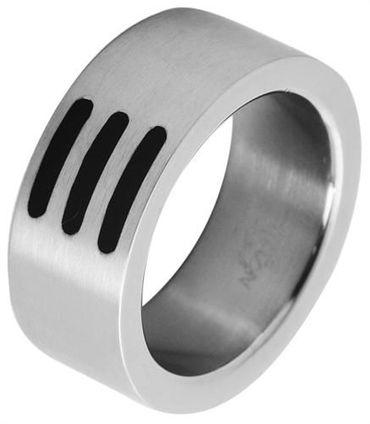 Edelstahlring 58mm Herrenring Herren Ring Edelstahl silberfarben 18,5mm