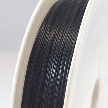 55m Schmuckdraht Basteldraht Ø 0,45mm schwarz Drahtrolle zum Basteln -1713 – Bild 1
