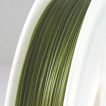 55m Schmuckdraht Basteldraht Ø 0,45mm olivgrün Draht zum Basteln -1717 – Bild 1