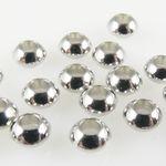 20 Metallperlen Perlen 3x5mm Spacer silbern Metall Rondelle