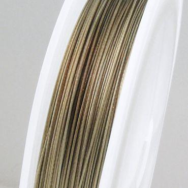 55m Schmuckdraht Basteldraht Ø 0,45mm bronze nylonummantelt Draht Basteln