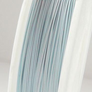 55m Schmuckdraht Basteldraht Ø 0,45mm hellblau nylonummantelt Draht Basteln