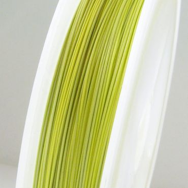 55m Schmuckdraht Basteldraht Ø 0,45mm kiwigrün nylonummantelt Draht